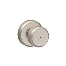Bowery Knob with Greyson trim Bed & Bath Lock - Polished Nickel
