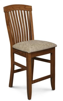 "Justine Stationary Barstool, 24"" Seat Height"