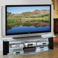 AVS2572 two-tone A/V stand for Flat Panel TVs up to 72 inches from Bell'O International Corp.