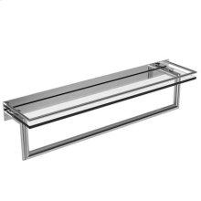 """Polished Chrome 24"""" Shelf with Towel Bar"""