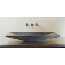 Verona Vessel Sink, 36 Black Granite