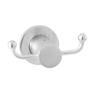 Polished Nickel - Natural Double Robe Hook