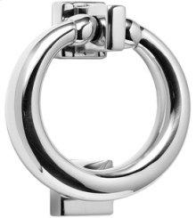 Antique Brass Unlacquered Ring door knocker
