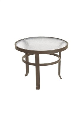 """Obscure Glass 24"""" Round Tea Table"""
