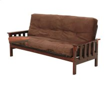 Heartland Mission Futon Frame with options: Chocolate, Mattress Included