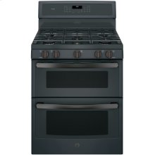 """GE Profile 30"""" Free-Standing Gas Double Oven Convection Range"""