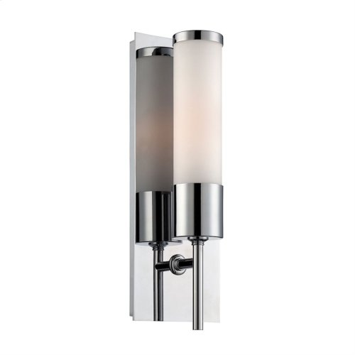 Eve 1-Light Wall Lamp in Chrome with White Opal Glass