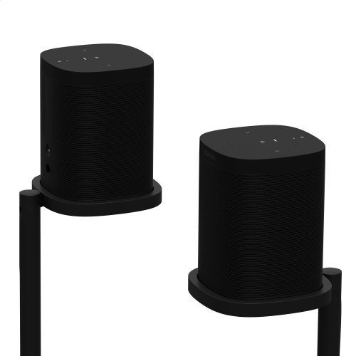 Black- Place your Sonos One or Play:1 surrounds with this pair of custom-designed stands.