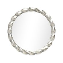 "35"" Silver Twised Mirror"