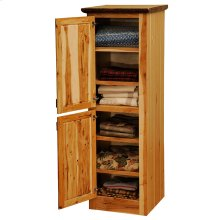 Linen Cabinet - 30-inch - Natural Hickory - Double doors