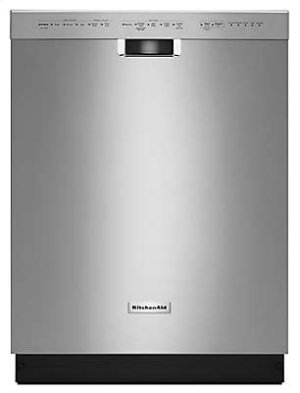 24'' 6-Cycle/5-Option Dishwasher, Pocket Handle - Stainless Steel