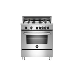30 4-Burner, Electric Oven Stainless -
