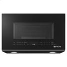 "Black Floating Glass 30"" Over the-Range Microwave Oven Product Image"