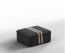 Storage Ottoman, Customer Owned Material with Piping Stitch