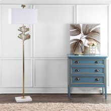 Tala Ginkgo Leaf Floor Lamp - Gold Shade Color: Off-White