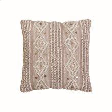 18X18 Hand Woven Raine Beige Pillow