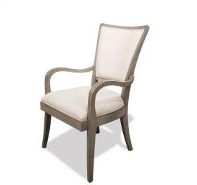 Vogue Upholstered Arm Chair Gray Wash finish