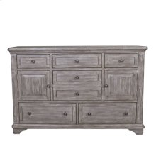 7 Drawer 2 Door Dresser
