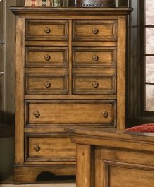 Five Drawer Chest In Honey Brown