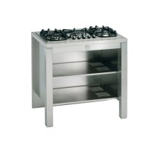 Stainless 36 Cabinet with Shelves, Cut-out