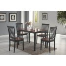 Oakdale Casual Tobacco Five-piece Dinette Set Product Image