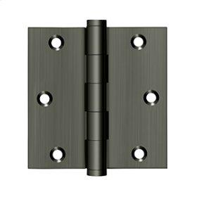 """3 1/2""""x 3 1/2"""" Square Hinge - Antique Nickel"""