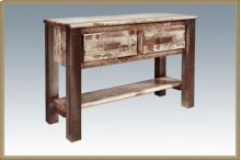 Homestead Entry Table - Stained and Lacquered