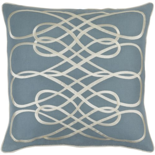 "Leah LAH-002 20"" x 20"" Pillow Shell with Polyester Insert"