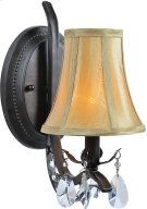 Wall Lamp - Dark Bronze/fabric Shade, E12 Type B 60w Product Image