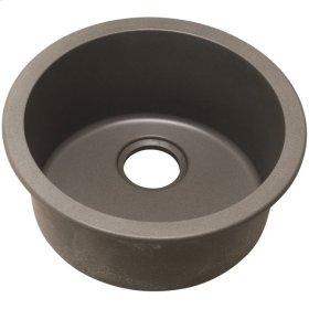 "Elkay Quartz Classic 18-1/8"" x 18-1/8"" x 7-1/2"", Single Bowl Dual Mount Bar Sink, Greige"