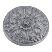 Hammered Medallion Knob 1 1/2 Inch - Pewter