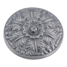 Hammered Medallion Knob 1 1/2 Inch - Pewter