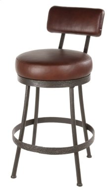 Cedarvale Iron Bar Stool (With Back)
