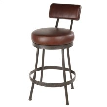 Cedarvale Iron Stool (With Back)