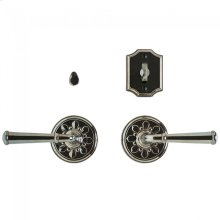 "Bordeaux Privacy Set - 3 1/4"" Silicon Bronze Brushed"