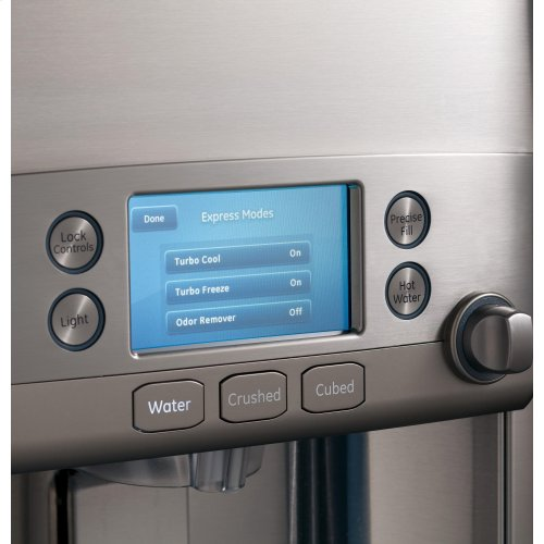 GE Cafe(T M) Series ENERGY STAR® 22.2 Cu. Ft. Counter-Depth French-Door Refrigerator with HotWater Dispenser