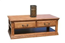 A-T249 Traditional Alder 2-Drawer Coffee Table