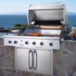 """DacorDiscovery 36"""" Outdoor Grill, in Stainless Steel with Chrome Trim, includes Sear Burner, for use with Liquid Propane"""