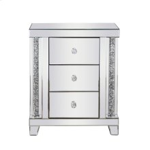 21.5 inch Crystal Bedside Table Silver Royal Cut Crystal