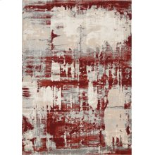 Maxell Mae14 Ivory Red Rectangle Rug 3'10'' X 5'10''