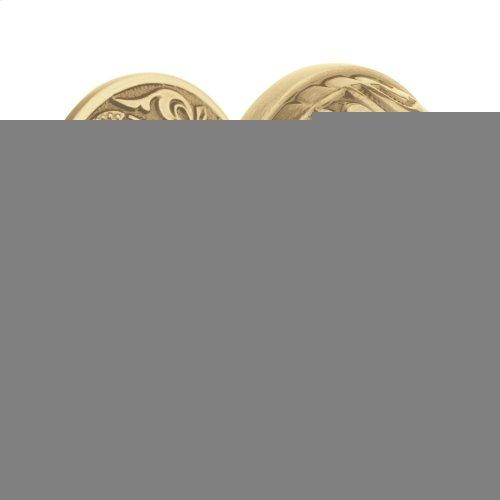 Satin Brass and Brown 5067 Estate Knob