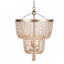 Pink Pearl Two-Tier Chandelier