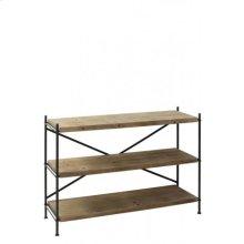 Shelving unit 3 layers 126x40x91 cm VINTO metal+wood