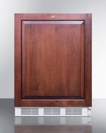 Ada Compliant All-refrigerator for Freestanding General Purpose Use, Auto Defrost W/lock, Integrated Door Frame for Overlay Panels, and White Cabinet