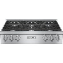 KMR 1134 LP RangeTop with 6 burners for professional applications