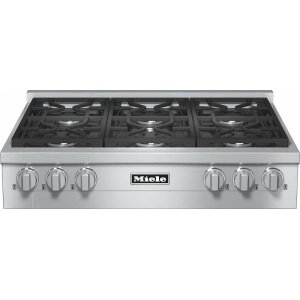 MieleKMR 1134-1 LP RangeTop with 6 burners for professional applications