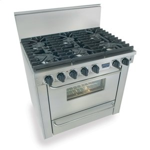 "Five Star36"" Six Burner All Gas Range, Sealed Burners, Stainless Steel"