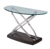 Emerald Home Vision Sofa Table W/glass Top Brown T7112-2