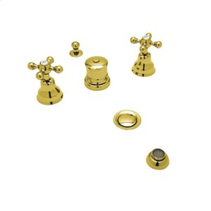 Inca Brass Arcana Five Hole Bidet with Arcana Ornate Metal Lever