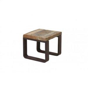 Side table 45x45x40 cm CUENCA railway wood